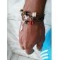 Z&X® Leather Bracelet Simply Multilayer Bracelet with Wing