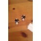 컬러 블록 네온 보석 모조 다이아몬드 드롭 귀걸이 패션 귀걸이