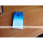Transparent 3D Waterdrop Pattern Blue Gradient Style Hard Case for iPhone 4/4S