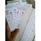 Девушка Pattern бумаги Конденсатор Украсить Наклейки (6PCS)