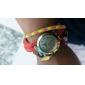 여성의 시계 보헤미안 금박 스타일의 컬러 풀 한 가죽 밴드