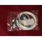 Fone de ouvido estéreo de 1,2 m de alta qualidade (azul)