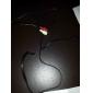 3.5mm audio a 2 RCA macho a cable macho (1.0m)