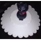 gato padrão de silicone tigela copo tampa tampa (cores aleatórias)