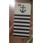아이폰 5/5S를위한 앵커 해군 줄무늬 패턴 하드 케이스