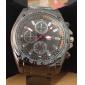 Men's Racing Style Black Alloy Quartz Wrist Watch