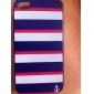 Trois Color Stripe Motif Hard Case PC avec cadre noir pour iPhone 4/4S