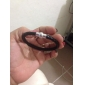 mens de cuero trenzado pulsera con cierre hebilla de acero inoxidable
