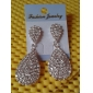 Earring Drop Earrings Jewelry Women Daily Rhinestone Silver