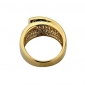 Exclusive 18KGP Rhinestone Men's Ring African Ring18K Golden Great Wall Mens Ring
