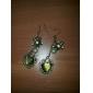 여성의 복고풍 하트 모양의 합성 오팔 진주 귀걸이 E17
