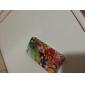 Colorido flor padrão Hard capa protetora para iPhone 4/4S