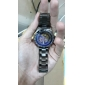 SHENHUA 남성용 기계식 시계 손목 시계 오토메틱 셀프-윈딩 중공 판화 스테인레스 스틸 밴드 럭셔리 블랙