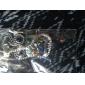 pistola de color plateado búho colorido collar de aleación de circonio