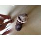 Perros Abrigos / Saco y Capucha Rojo / Marrón Ropa para Perro Invierno Copo Mantiene abrigado / Reversible / Navidad
