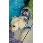 개 티셔츠 후드 블루 강아지 의류 겨울 모든계절/가을 격자 무늬 / 체크 패션
