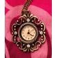 Unisex Hollow Style Alloy Analog Quartz Keychain Necklace Watch (Bronze)