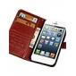 아이폰 6 (모듬 색상)에 대한 복고풍 패턴 PU 가죽 지갑 커버