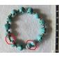Funny Smiling Skull Shape Turquoise Bracelet