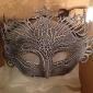 Hard Masquerade Chapped Retro Halloween Mask White&Black