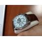 Orologio analogico, al quarzo, da uomo, con cinturino in pelle - Colori assortiti