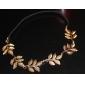 5 Leaves Gold Metal Leaf Headband Hair Band Fashion Hair Accessories