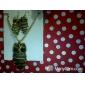 bronce vendimia búho de la joyería de la mujer (collar& pendientes)