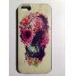 Colorful Flower Decorated Skull Pattern PC Hard Case for iPhone 5/5S
