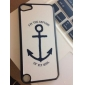 Design simples Shimmering Big Anchor Padrão Hard Case para iPod touch 5
