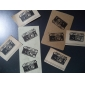 Vintage Camera Pattern Wood Stamp(Random Colors)
