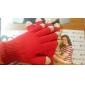 Красный мужской сенсорный экран трикотажные перчатки