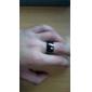 Кольца Бижутерия Сплав Мужчины Классические кольца Черный / Серебряный