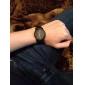Men's Black Case PU Analog Quartz Wrist Watch (Black)