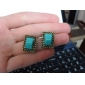European and American popular Emerald gemstone powder Earring Phnom Penh (random color)