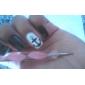 Double Head Metal Nail Polishing Tool(Random Colors,1PCS)