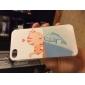 chat baiser poissons poli terne Embossment retour cas pour iPhone 4 / 4S