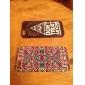 motif de foyer de couleur en plastique brillant coque arrière pour iphone 5/5s