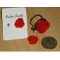 z&x® rojo estilo vintage anillo color de rosa