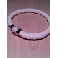 Women's PU Bracelet with Crystal Disco Ball Magnetic Clasp