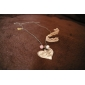 Ancient silver love pearl necklace N20