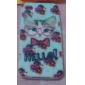Flower and Cat Padrão Soft Case de silicone para iPhone4/4S