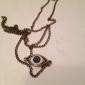 Панк Demom глаз сплава ожерелье (бронза) (1 шт)
