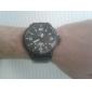 Мужской Армейские часы Кварцевый Японский кварц Календарь Кожа Группа Черный Коричневый марка