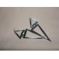 Европы улице избили треугольной металла преувеличенно модными длинные серьги серьги (случайный цвет)