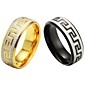 Fine grain and high quality titanium steel men's single ring