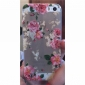 Pattern design requintado Flor caso capa dura para o iPhone 5/5S