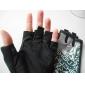 Черный + белый Удобная коротких пальцев перчатки для Велоспорт