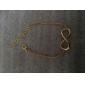 ouro shixin® banhado liga infinito charme com uma pulseira corda ajustável