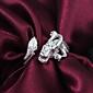 Европейских Dragon Женские Серебряный Серебряный позолоченный полосы кольца (1 шт)