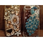 Peacock Pattern Metal Jewelry Back Case for iPhone 5C